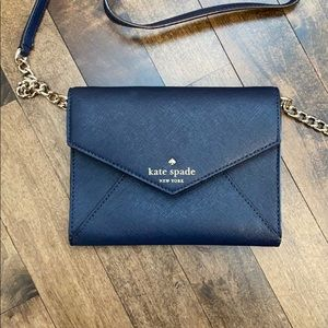NWT cedar shore, navy, envelope purse